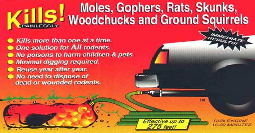 Underground Exterminator Kills Moles