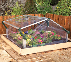 cold frame double mini greenhouse