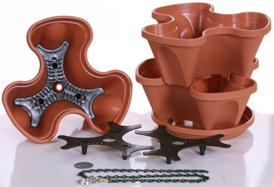 terra cotta self watering planter